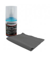 Innovera 4oz Anti-Static Gel Screen Cleaner Spray with Microfiber Cloth