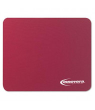 "Innovera 9"" x 7-1/2"" Natural Rubber Mouse Pad, Burgundy"