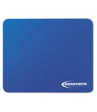 "Innovera 9"" x 7-1/2"" Natural Rubber Mouse Pad, Blue"