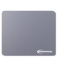 "Innovera 9"" x 7-1/2"" Natural Rubber Mouse Pad, Gray"