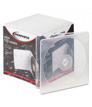 Innovera 25-Pack Slim CD Case, Clear