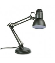"Ledu 22"" H Adjustable Arm Incandescent Desk Lamp, Black"