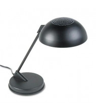 "Ledu 16.3"" H Vented Dome Incandescent Desk Lamp, Black"