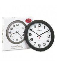 "Howard Miller 12.3"" Norcross Auto Daylight-Savings Wall Clock, Black"