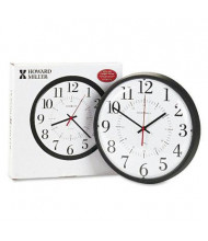 "Howard Miller 14"" Alton Auto Daylight Savings Wall Clock, Black"