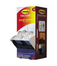 Command Medium Clear Hooks & Strips, 50 Hooks & 50 Adhesive Strips/Carton