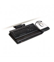 "3M 23"" Track Adjustable Keyboard Tray with Platform, Black"