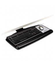 "3M 17-3/4"" Track Adjustable Keyboard Tray with Standard Platform, Black"