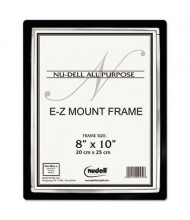 "NuDell EZ Mount II 8"" W x 10"" H Document Frame, Black/Silver"