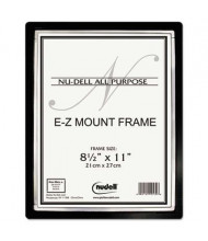 "NuDell EZ Mount II  8.5"" W x 11"" H Document Frame, Black/Silver"