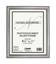 """NuDell Antique 8.5"""" W x 11"""" H Frame, Silver Finish"""