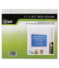 "NuDell 11"" W x 8.5"" H Wall Mount Sign Holder"
