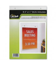 "NuDell 8.5"" W x 11"" H Wall Mount Sign Holder"