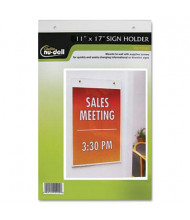 "NuDell 11"" W x 17"" H Wall Mount Sign Holder"