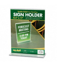 "NuDell 8.5"" W x 11"" H Acrylic Sign Holder"