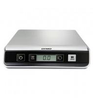 "Pelouze Dymo M25 25 lb. Portable Digital USB Postal Scale, 8"" W x 8"" D Platform"