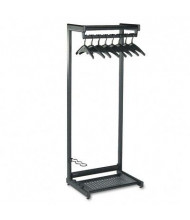 "Quartet 24"" W Single-Sided, 2-Shelf Garment Rack"