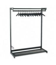 "Quartet 48"" W Single-Sided, 2-Shelf Garment Rack"