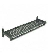 "Quartet 48"" W Metal Garment Shelf Rack"