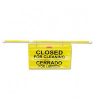 "Rubbermaid 50"" W x 13"" H Commercial Site Safety Hanging Sign"