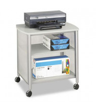 Safco One-Shelf Deskside Machine Cart, Gray