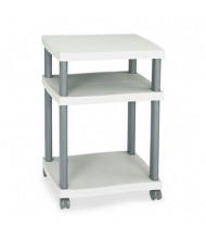 Safco 2-Shelf Printer Cart, Gray