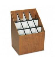Safco 12-Compartment Upright Roll Storage File, Woodgrain