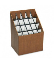 Safco 20-Compartment Upright Roll Storage File, Woodgrain