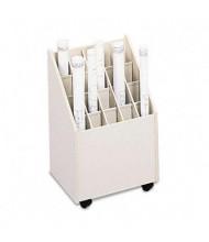 Safco Laminate 20-Compartment Mobile Roll File Cart