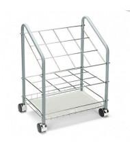 Safco Wire 12-Compartment Roll File Cart