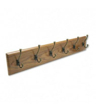 Safco Wood 12-Garment Wall Rack, Medium Oak