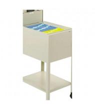 Safco Standard Locking Mobile Tub File Cart, Putty