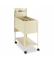 "Safco Extra-Deep 14"" W Locking Mobile Tub File Cart, Putty"