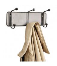 Safco Onyx Mesh 6-Garment Wall Rack