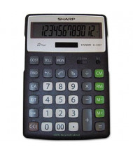 Sharp EL-R297BBK Recycled 12-Digit Semi-Desk Display Calculator with Kickstand