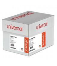 "Universal 14-7/8"" x 11"", 15lb, 3000-Sheets, 1/2"" Green-Bar Computer Printout Paper"
