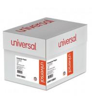 "Universal 14-7/8"" x 11"", 18lb, 2600-Sheets, 1/2"" Green-Bar Computer Printout Paper"