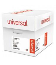 "Universal 14-7/8"" x 11"", 20lb, 2400-Sheets, 1/2"" Green-Bar Computer Printout Paper"