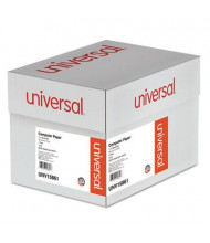 "Universal 14-7/8"" x 11"", 18lb, 2600-Sheets, 1/2"" Blue-Bar Computer Printout Paper"