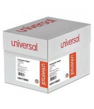 "Universal 14-7/8"" x 11"", 20lb, 2400-Sheets, 1/2"" Blue-Bar Computer Printout Paper"