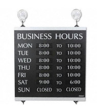 "Headline Century 13"" W x 14"" H Business Hours Sign"