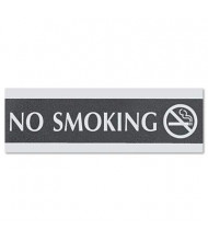"Headline Century 9"" W x 3"" H No Smoking Office Sign"