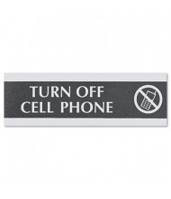 "Headline Century 9"" W x 3"" H Turn Off Cell Phone Office Sign"