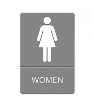 "Headline 6"" W x 9"" H Women Restroom ADA Sign"