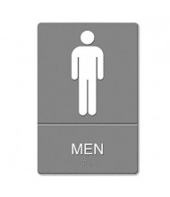 "Headline 6"" W x 9"" H Men Restroom ADA Sign"