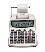 Victor 1208-2 Two-Color Compact 12-Digit Printing Calculator