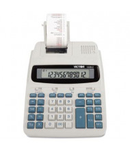 Victor 1228-2 Two-Color Roller 12-Digit Printing Calculator