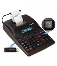 Victor 1280-7 USB Connectivity Two-Color 12-Digit Printing Calculator
