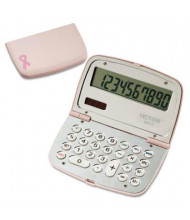 Victor 909-9 Limited Edition Pink 10-Digit Compact Calculator