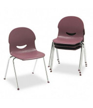 Virco IQ Polypropylene Plastic Stacking Chair, 4-Pack